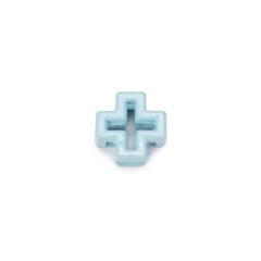 Σταυρός μεταλλικός διάτρητος σιέλ 1x1εκ 10τεμ