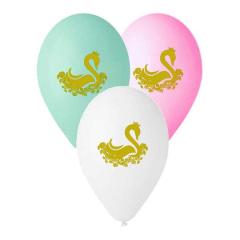 Μπαλόνι τυπωμένο Κύκνος (5τεμ)