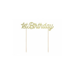 Topper τούρτας 1st Birthday χρυσό