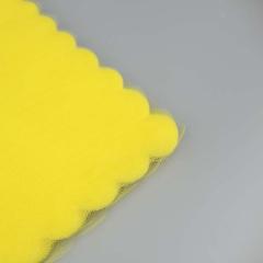 Κομμένο τούλι συννεφάκι κίτρινο 100τεμ