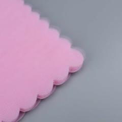 Κομμένο τούλι συννεφάκι ροζ 100τεμ