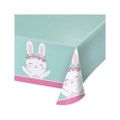 Τραπεζομάντηλο πλαστικό 1st Birthday Bunny 137x259εκ