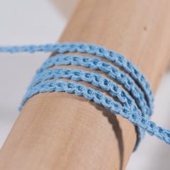 Τρέσα αλυσίδα βαμβακερή γαλάζια 5mm 25μ