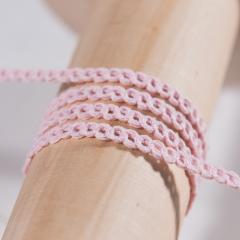 Τρέσα αλυσίδα βαμβακερή ροζ 5mm 25μ