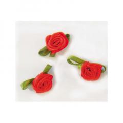 Λουλουδάκι σατέν κόκκινα 100τμχ