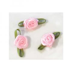 Λουλουδάκι σατέν ροζ 100τμχ