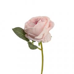 Τριαντάφυλλο ροζ κοτσάνι και φύλλο 30εκ