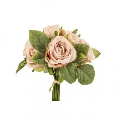 Μπουκέτο τριαντάφυλλα ροζ 4x25εκ 9τεμ