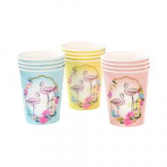 Χάρτινα ποτήρια με θέμα Flamingo Talking