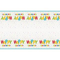 Τραπεζομάντηλο πλαστικό Happy Balloon Birthday 137x213εκ.