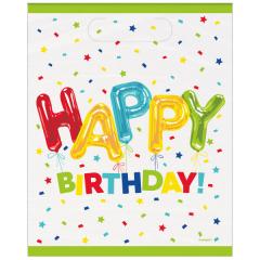 Τσάντες Δώρου Happy Balloon Birthday 8τεμ.