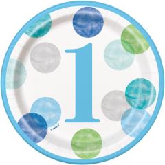 Πιάτα γλυκού Blue Dots 1st 8τεμ.