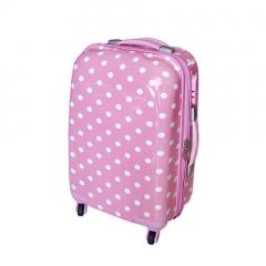 Βαλίτσα τρόλεϊ ροζ πουά