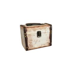Ξύλινη βαλίτσα ευχών σε θέμα vintage