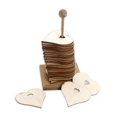 Ευχολόγιο με 65 καρδίες ξύλινες