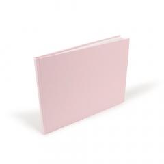 Βιβλίο ευχών απλό ροζ 27x20εκ