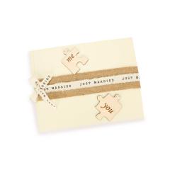 Βιβλίο ευχών γάμου παζλ Me & You