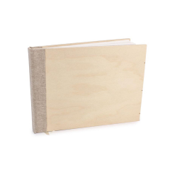 Βιβλίο ευχών ξύλινο αστόλιστο 27x20εκ