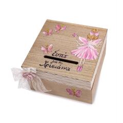Κουτί ευχών ξύλινο με νεράιδα