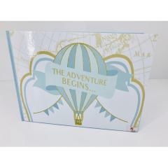 Βιβλίο ευχών αερόστατο θέμα the adventure begins
