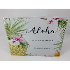 Βιβλίο ευχών σε θέμα aloha love n happiness summer vibes