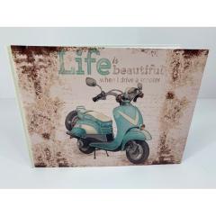 Βιβλίο ευχών βέσπα θέμα life is beautiful