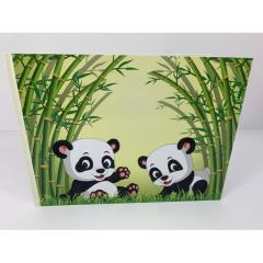 Βιβλίο ευχών σε θέμα panda ιβουάρ αστόλιστο