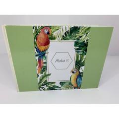 Βιβλίο ευχών σε θέμα παπαγάλοι ιβουάρ aloha