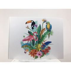 Βιβλίο ευχών σε θέμα tropical ζωάκια