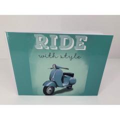 Βιβλίο ευχών βέσπα θέμα ride with style