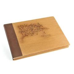 Ξύλινο βιβλίο ευχών δέντρο ζωής