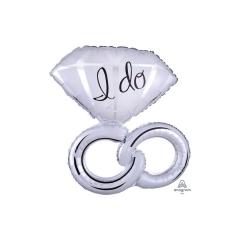 Δαχτυλίδια Γάμου 'I Do' Foil Μπαλόνι 76εκ