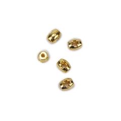 Σταυρός οβάλ διάτριτος χρυσός 4x5mm 50τεμ