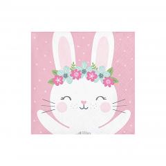 Χαρτοπετσέτες μικρές Birthday Bunny 16τεμ