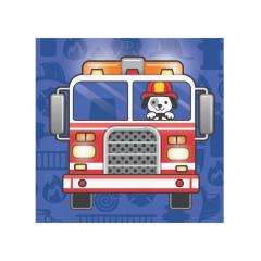 Χαρτοπετσέτες μικρές Flaming Fire Truck 16τεμ