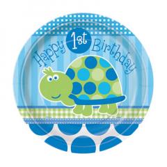 Χάρτινα πιάτα φαγητού σε θέμα μικρή χελωνίτσα