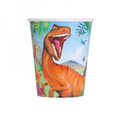 Χάρτινα ποτήρια με θέμα δεινοσαύρους