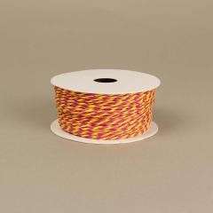 Κορδόνι χάρτινο φούξια-κίτρινο 2mm 50μ