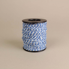 Κορδόνι χάρτινο λευκό-γαλάζιο 2mm 50μ