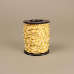 Κορδόνι χάρτινο λευκό-κίτρινο 2mm 50μ