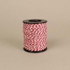 Κορδόνι χάρτινο λευκό-κόκκινο 2mm 50μ