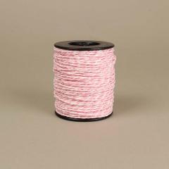 Κορδόνι χάρτινο ροζ-λευκό 2mm 50μ
