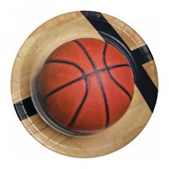 Χάρτινο πιάτο φαγητού σε θέμα μπάσκετ