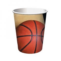 Χάρτινα ποτήρια με θέμα μπάσκετ