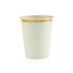 Χάρτινο ποτήρι χρυσό συννεφάκι μιντ 10τεμ