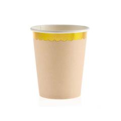 Χάρτινο ποτήρι χρυσό συννεφάκι ροζ 10τεμ