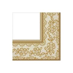 Χαρτοπετσέτες φαγητού Delicate Lace Gold