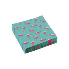 Χαρτοπετσέτες φαγητού 33εκ Flamingo Paradise /20 τεμ