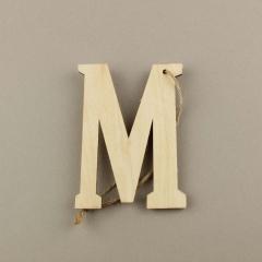 Ξύλινο γράμμα Μ 6εκ
