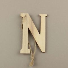 Ξύλινο γράμμα Ν 6εκ